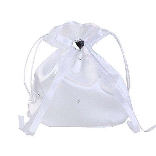 Generic Wedding Bag Satin Money Bag with (Satin Pearl Money Bag)