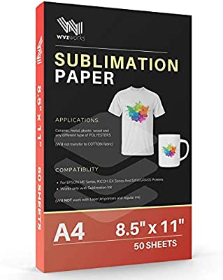 Inkjet Transfer Paper for Light Colors 8.5x11 25 Sheets Ships Priority Mail