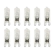 VSTAR® G9 Halogen Bulb, 50-Watt 120-Volt Halogen G9 Base,Pack of 10