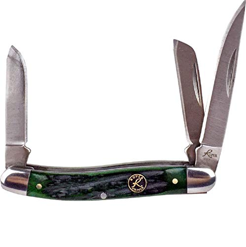 Roper Green - Roper Stockman 2.5 in Blade Green Jigged Bone Handle