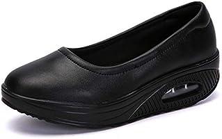 [Sunlane] レディース ナースシューズ スニーカー 厚底 ダイエットシューズ 看護師 通気性エアクッション付き 婦人靴 軽量