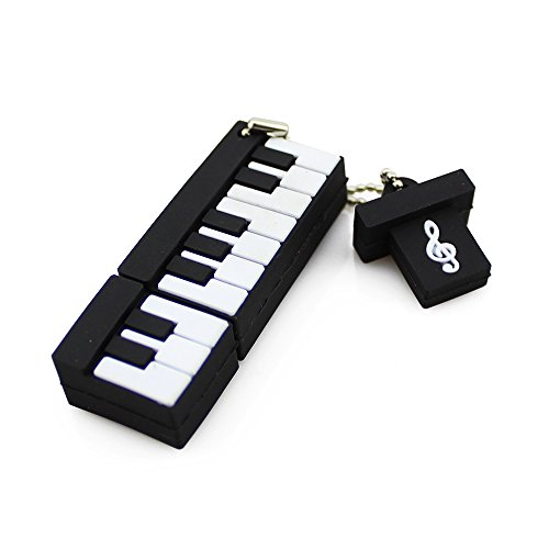 CHUYI Music Series Novelty Piano Shape 64GB USB 2.0 Flash Drive Storage Pen Drive Cute Thumb Drive Cartoon Memory Stick U Disk Jump Drive with Cap -