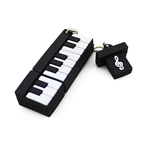 CHUYI Music Series Novelty Piano Shape 32GB USB 2.0 Flash Drive Storage Pen Drive Cute Thumb Drive Cartoon Memory Stick U Disk Jump Drive with Cap Gift