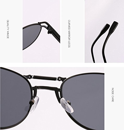 Frame Nouvelle polarized Non Retro Keephen Steampunk Lens Or Sunglasses Spring Jambe Bleue Metal Glace pqZwH6