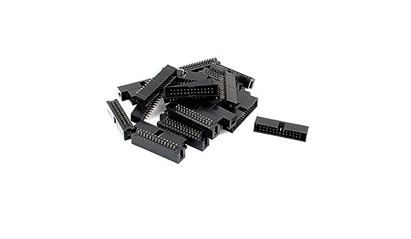 2.54 mm 5 Pack 16 way IDC Box Header Connecteur-Angle Droit 1st classe post