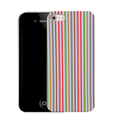 Mobile Case Mate IPhone 4s clip on Silicone Coque couverture case cover Pare-chocs + STYLET - strip stripe pattern (SILICON)