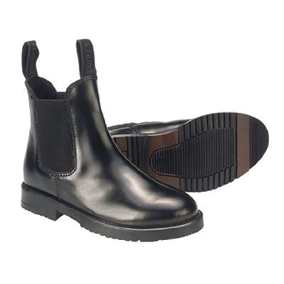 Étui en cuir pour enfant de la marque Rhinegold Bottines d'équitation à enfiler pour enfant Noir Taille 3:
