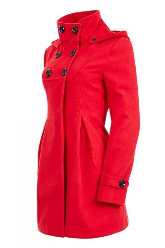 74dfb9d76398 Laeticia Dreams Damen Mantel mit Kapuze Jacke XS S M L XL XXL  Amazon.de   Bekleidung