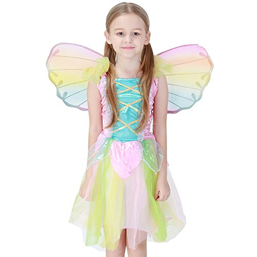 Fisher Woman Halloween Costume (Kids Girls Halloween Costumes Cosplay Outfit Fairy M)