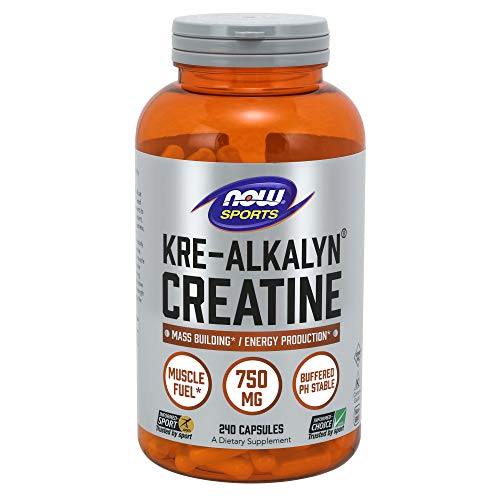 NOW® Kre-Alkalyn® Creatine, 750 mg, 240 Capsules (All American Kre Alkalyn)