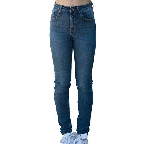 Denim Casual Aderente Jeans Moda Slim Pantaloni Skinny H7217 Donna Alta Fit Mforshop Vita qIXBtgwxx