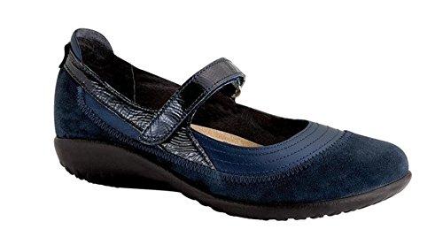 Naot Footwear Women's Kirei Polar Sea Leather/Blue Velvet Suede/Navy Patent Leather Flat 42 (US Women's 11) W