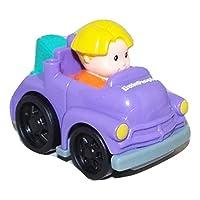 Fisher Price Little People Wheelies Stow & Towガレージ交換用パープルEddie Tow Truck w /ティールHitch Loose / Repackaged