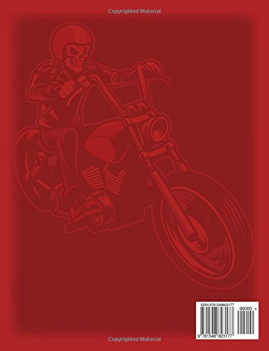 Motorcycle Adult Coloring Book: A Biker Coloring Book Designs