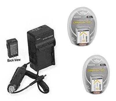 2つ2電池+充電器for Sony dscw360b、Sony dscw380、Sony dscw380b、Sony dsc-w360b、Sony dsc-w380s B01DNABDVI