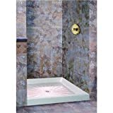 Mustee Durabase Fiberglass Shower Floor Rectangular 34 '' X 48 '' White