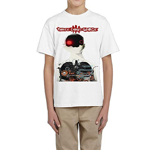 DeniseJPeterson Youngster Unisex Three Days Grace Short Sleeves Boys&Girls T-Shirt S ()