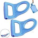 2 PACK Advanced Ergonomic 2nd Gen 5 Gallon Drinking Water Bottle Handle Bottle Carrier Lifter with Rubberized Anti-Slip Holder
