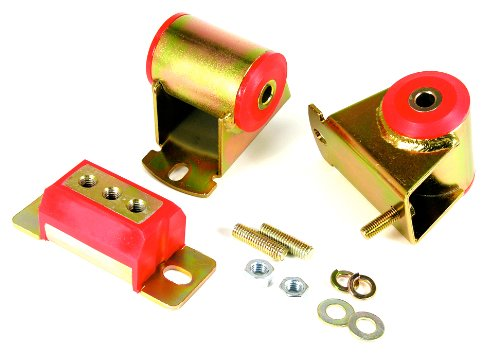 Prothane 1-1906 Red Motor and Transmission Mount Kit for YJ by Prothane