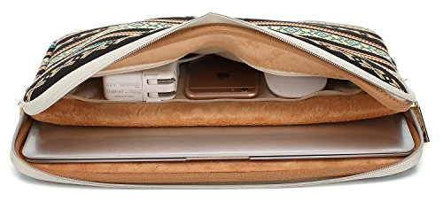 Kayond Canvas Water-Resistant 13 inch Laptop Sleeve -13 inch 13.3 inch Laptop case,12.9 inch Tablet Case Compatible MacBook(13-13.3 inches, New Bohemian) by kayond (Image #2)