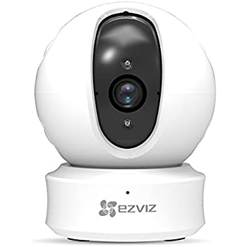 EZVIZ ez360 1080p HD Pan/Tilt/Zoom WiFi Home Security Camera – Auto Motion Tracking, Night Vision, and Two-Way Audio, Works with Alexa (White)
