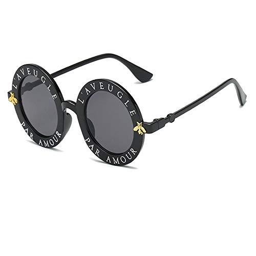 WANGKEAI Gafas De Sol Retro Redondas Letras Inglesas Gafas ...
