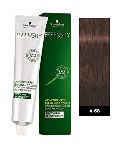 Schwarzkopf Essensity Permanent Hair Color - 4-68 Medium Auburn Red Brown - 60ml