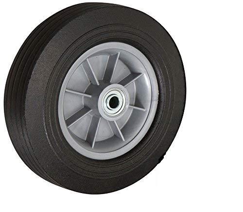 8'' X 2.5'' - 2.5'' Centered HUB Flat Free Hand Truck Wheel - 450 LB Cap - 3/4'' Axle Bore Size - 3/4'' Ball Bearings - CasterHQ Brand
