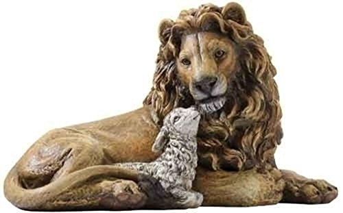 "6.5"" Lion & Lamb Figure Set of 2"