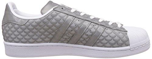 adidas Superstar W, Zapatillas para Mujer Blanco (Silvmt/silvmt/ftwwht)