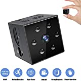 Mini Hidden Spy Camera Wireless - 1080P Nanny Cam With Night Vision&Motion Detection-Wearable Security Cam Indoor/Outdoor,Small Built-in Magnet Surveillance Camera for Home/Office/Car- A Covert Copcam