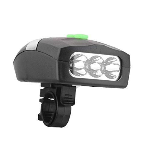 Best buy bargain house 3LED Bike Bicycle White Front Head Light Electronic Bell Horn Hooter Siren(Black)