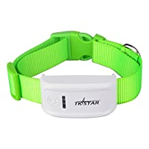 Mini Pet GPS Tracker Collar for Big Dog Animals GPS Tracking with Free Tracking APP and Platform Service TK909(Green)