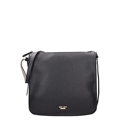 Mytwin by Twin Set RA7TAN Borsa A Spalla Donna Nero UNICA