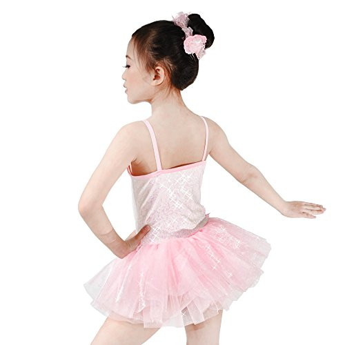 Rosa Pinky Floreale Costume Midee Del Da Ballo Paillettes Tutu Vestito HCwHqSx86z