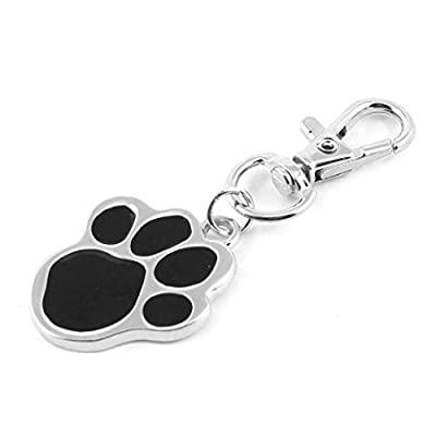 Uxcell Paw Shaped Pet Dog Cat Lobster Clasp Safety Collar Name ID Tag, Black