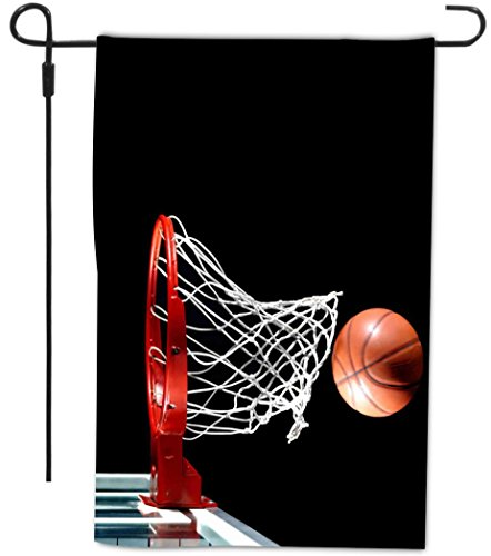 Rikki Knight Basketball In Hoop Design Decorative House Or Garden Full Bleed Flag 12 By 18 Inch Buy Online In Grenada At Grenada Desertcart Com Productid 61153027