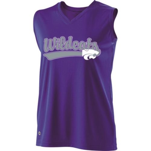 SLEEVELESS V-NECK KANSAS STATE WILDCATS Girls Curve Dry-Excel ADULT XL Licensed NCAA College Replica Jersey