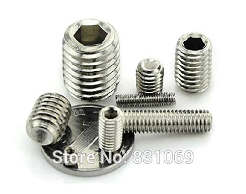 Ochoos 5000pcs/Lot Metric Thread M6x4mm Stainless Steel Hex Socket Set Grub Screw Flat Head Brand New