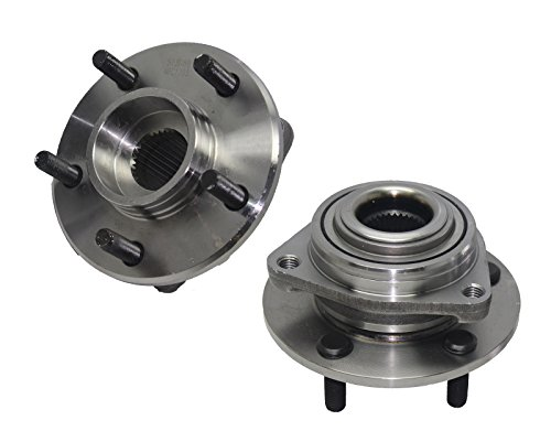 Brand New (Both) Front Wheel Hub and Bearing Assembly for Concorde, Intrepid, LHS, 300M 5 Lug W/o ABS (Pair) 513089 x2 - Lhs Front Hubs