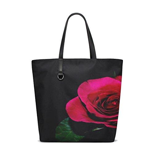 Dnoving Women Flower Flowers Rose Love Decoration Nature Handle Satchel Handbags Shoulder Bag Tote Purse Messenger Bags
