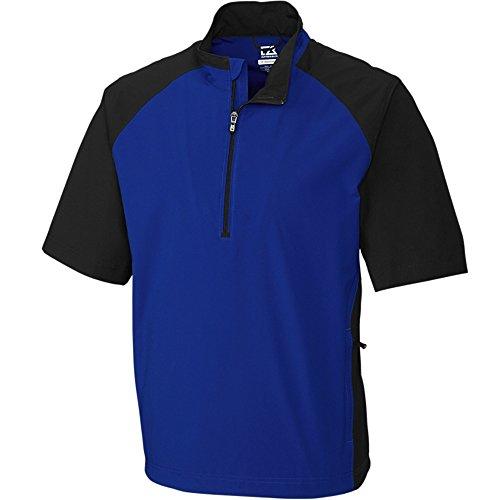 Cutter & Buck 2016 Weathertec S/S Summit Water-Resistant Half Zip Short Sleeve Jacket Complex XXXL