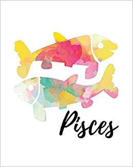 Pisces: Pisces Sketch Book Yellow Pink: My Astrology