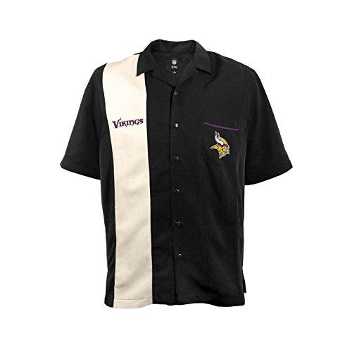 (NFL Minnesota Vikings  Strike Men's Bowling Shirt, Plus, 4XL)