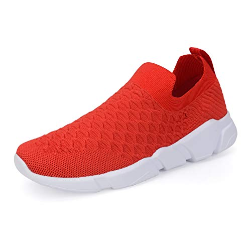 WXQ Men's Running Lightweight Breathable Casual Sports Shoes Fashion Sneakers Walking Shoes Red 46