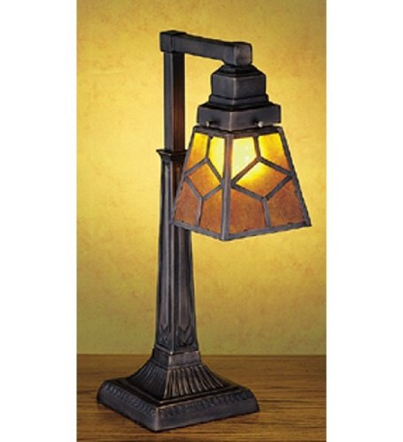 Mica Diamond Mission Table Lamp