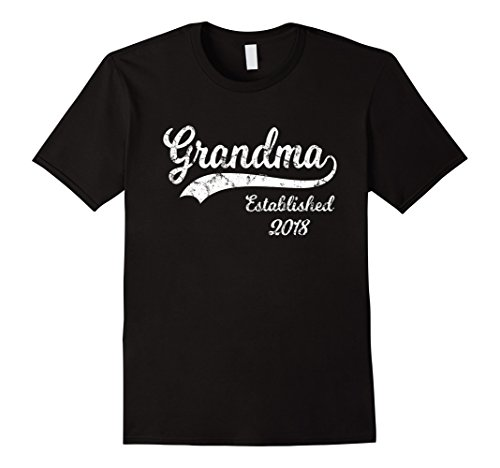 Mens Grandma Established 2018 T-Shirt New Grandma Gifts Large Black