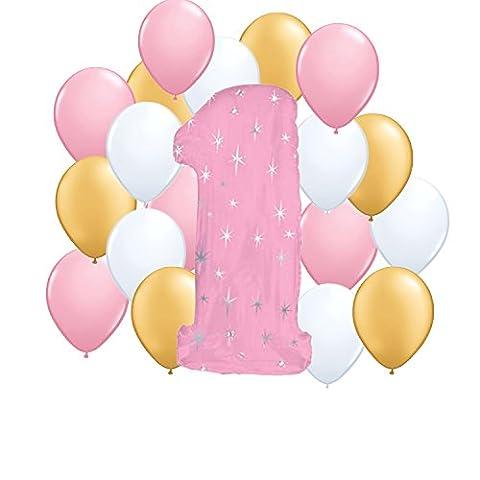 Fun to be One Girl 1st Birthday Party Balloon Kit by anagarm - 1st Birthday Balloon