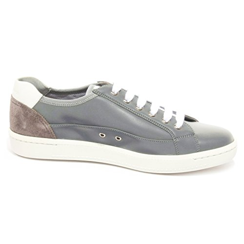 Car Shoe B2346 Sneaker Uomo Kue Tessuto Reflex Shoe Man CANGIANTE Grigio/Argento
