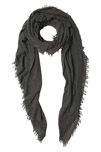 Chan Luu Luxurious All Cashmere Scarf in Charcoal Gray ()